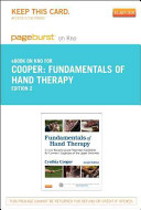 Fundamentals of Hand Therapy Pageburst on Kno Retail Access Code Book