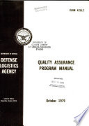 Quality Assurance Program Manual Book