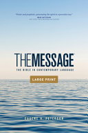 The Message Outreach Edition  Large Print  Softcover the Message Outreach Edition  Large Print  Softcover