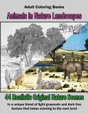 Adult Coloring Books  Animals in Nature Landscapes