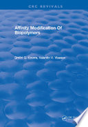 Affinity Modification Of Biopolymers Book