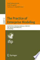 The Practice of Enterprise Modeling Book