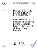 Forest Service Research and Development