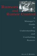 Pdf Rumors and Rumor Control