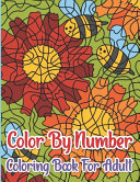 Color By Number Coloring Book For Adult