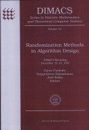 Randomization Methods in Algorithm Design