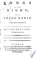 Songs in the Night  by a young woman under heavy afflictions  i e  Susannah Harrison   Third edition  with some additions