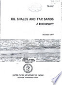 Oil Shales and Tar Sands Book