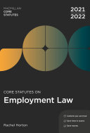Core Statutes on Employment Law 2021 22