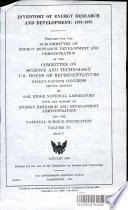 Inventory of energy research and development--1973-1975