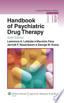 Handbook of Psychiatric Drug Therapy Book