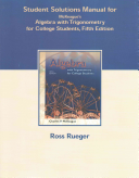Student Solutions Manual for McKeague S Algebra with Trigonometry for College Students