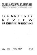 Quarterly Review of Scientific Publications