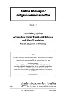 African Luo Ethnic Traditional Religion and Bible Translation