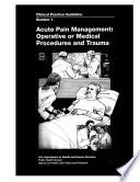 Acute Pain Management Book