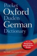 Pocket Oxford Duden German Dictionary