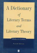 A Dictionary of Literary Terms and Literary Theory
