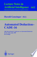 Automated Deduction   CADE 16
