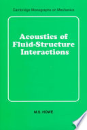 Acoustics Of Fluid Structure Interactions Book PDF