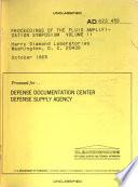 Proceedings of the Fluid Amplification Symposium