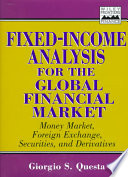Fixed Income Analysis For The Global Financial Market Book PDF