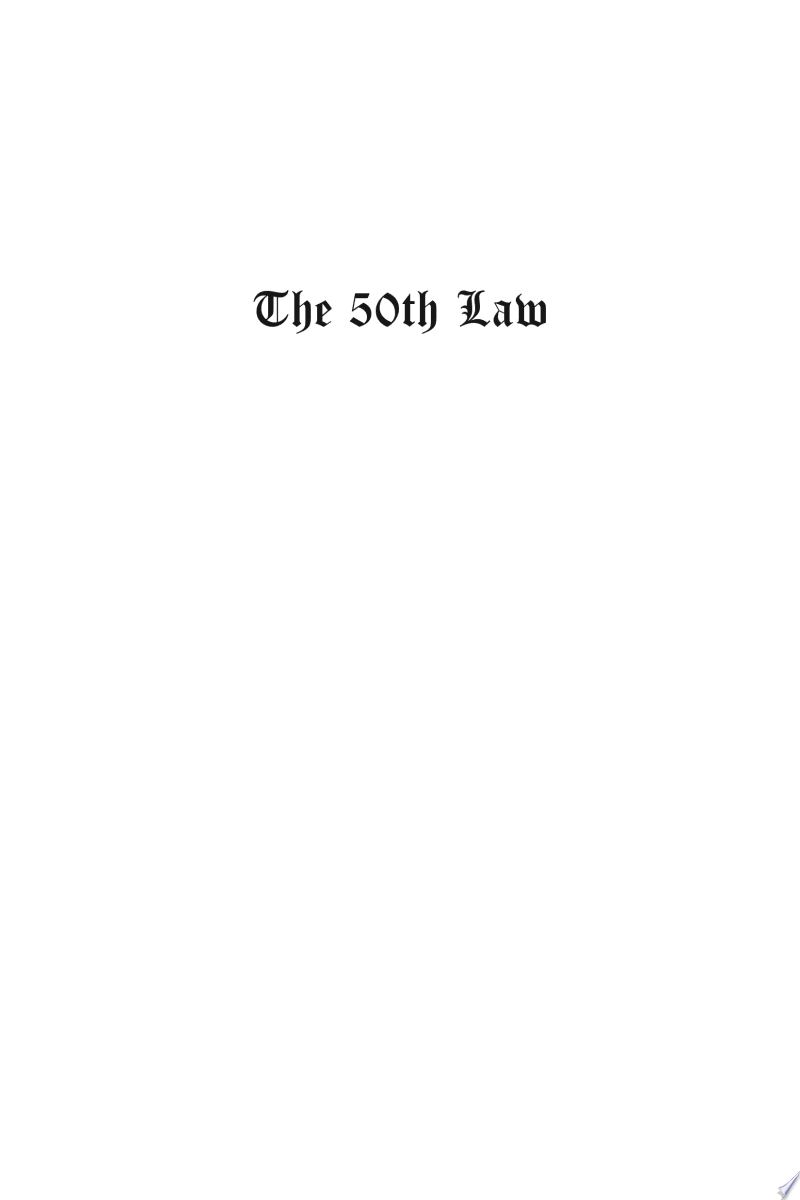 The 50th Law banner backdrop