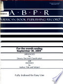 American Book Publishing Record  , Band 46,Ausgaben 9-10