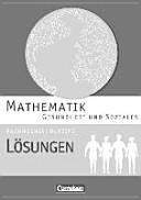 Mathematik Fachhochschulreife Gesundheit und Soziales. Lösungen zum Schülerbuch