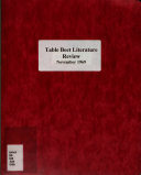Table Beet Literature Review
