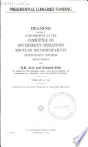 Presidential Libraries Funding Book