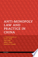 Anti monopoly Law and Practice in China