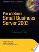 Pro Windows Small Business Server 2003