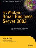 Pro Windows Small Business Server 2003 Pdf/ePub eBook