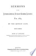 Sermons on the International Sunday school Lessons for 1876 19