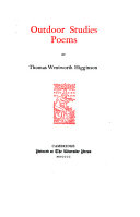 Pdf The Writings of Thomas Wentworth Higginson: Outdoor studies; poems