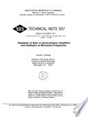 Tabulation of Data on Semiconductor Amplifiers and Oscillators at Microwave Frequencies