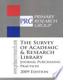 Survey Of Academic Research Library Journal Purchasing Practices
