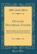 Outline Doctrinal Course