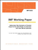 Multivariate Filter Estimation of Potential Output for the United States: An Extension with Labor Market Hysteresis