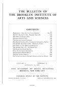 The Bulletin of the Brooklyn Institute of Arts and Sciences