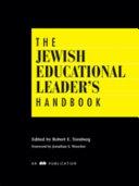 The Jewish Educational Leader s Handbook