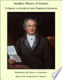 Goethe s Theory of Colours