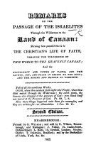 Remarks on the Passage of the Israelites thro' the Wilderness to the land of Canaan