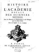 Histoire de l'Académie Royale des Sciences, années 1718-1726