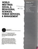World Meetings  Social   Behavioral Sciences  Human Services   Management