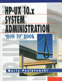 HP UX 10 x System Administration
