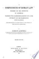 A Compendium of Roman Law