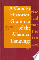 A Concise Historical Grammar of the Albanian Language