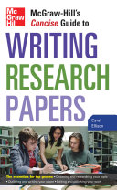 Pdf McGraw-Hill's Concise Guide to Writing Research Papers Telecharger