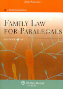 Family Law for Paralegals, Fourth Edition